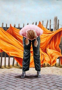 Erlend Steiner Lovisa - Mutier - Acryl - 40 x 55 cm